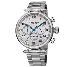 Homme Akribos XXIV AK764SS En Chronographe Acier Inoxydable Bracelet Montre