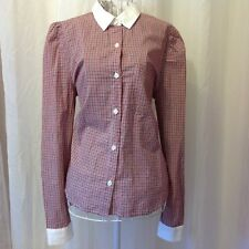 F21 1940'S STYLE CHECKERED BLOUSE NWT SZ SMALL
