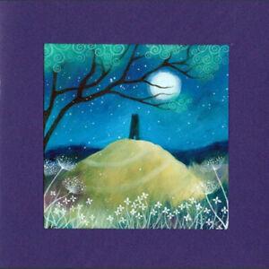 PAGAN WICCAN GREETING CARD Mystic Night GLASTONBURY GODDESS CELTIC AMANDA CLARK
