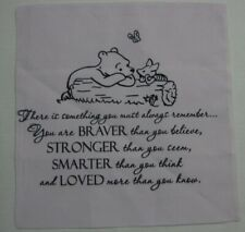 Classic Winnie the Pooh Pillow Cushion Cover Sham Pink GIFT 14 x14 Brave Strong