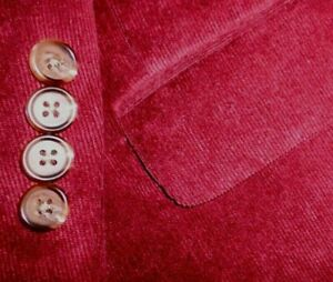 RALPH LAUREN mens CORDOROY sport coat BURGUNDY MAROON RED 44R 44 e54 - NEW