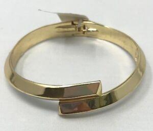 BCBGeneration Hematite-Tone Icon Gold Metallic Women's Cuff BC62191