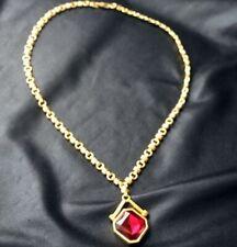SWAROVSKI Large Ruby Rhinestone Pendant Necklace