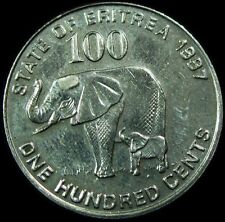 ERITREA, Vintage 1991   100 CENTS COIN, Extra Fine Circulated, NICE COIN DETAILS