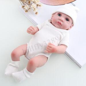 "11"" Handmade Newborn Baby Dolls Babies Boy Full Body Lifelike Newborn Silicone"
