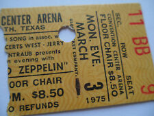 LED ZEPPELIN Original__1975__CONCERT TICKET STUB__Fort Worth, TX__EX+