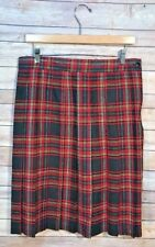 Plaid Skirt Requirements Size 14 USA Red Black Vintage