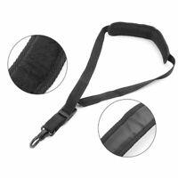 Saxophone Neck Strap Soft Sax Leather Padded For Alto Tenor Baritone Soprano Q