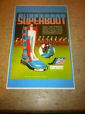 Vintage Super boot Motocross  Advertisement Poster Man Cave Gift Art Decor