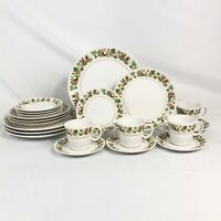 20 PC SET NORITAKE HOMECOMING DINNERWARE DINNER LUNCH PLATE CUP SAUCER FREE SHIP