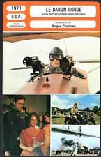 LE BARON ROUGE - Roger Corman (Fiche Cinéma) 1971 - Von Richthofen And Brown