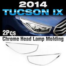 Chrome Head Lamp Garnish Molding Trim for HYUNDAI 2013 - 2015 Tucson ix / ix35