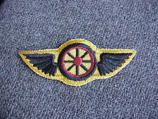 vintage Motorcycle Cop Police Wings & Wheel jacket patch Steampunk Burning Man