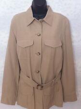 NWT Lauren SILK plus size 14W jacket w/belt. Lined.
