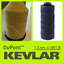 KEVLAR DuPont YELLOW 380LB 1.3mm 100 FT 30 M LINE BRAIDED WIRE LINE KITE FISHING