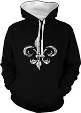 Fleur-de-lis Fleur-de-lys Lily Symbol French Heraldry 2-tone Hoodie Pullover