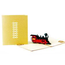 3D Pop Up Retro Train Grußkarte Geburtstag Happy Jubiläum Thanksgiving