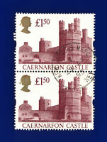 1992 SG1612 £1.50 Caernarfon Castle UK7 Pair Kew Gardens 29 AP 95 Good Used ctly