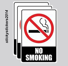 No Smoking Pack of 3 Metal Safety Sign 300x225mm Free&Fast Delivery