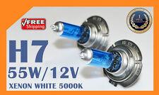 2 x H7 12V 55W Xenon White 6000k Halogen Blue Car Head Light Lamp Globes / Bulbs