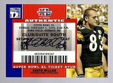 2007 Topps TX Exclusive Heath Miller Super Bowl Ticket Autograph Card-Steelers