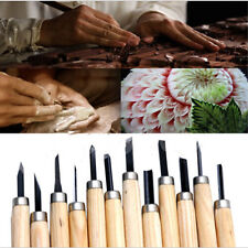 Wood Tool Gouges Hand Chisel Woodworkers Carving 12pc Set Knife Professional