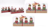 1 x Robin or Elf Christmas Tea Light Tealight Gold Silver Red Festive  Candles