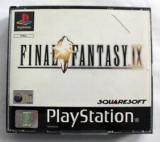 FINAL FANTASY 9 IX - SONY PLAYSTATION 1 PS1  VGC Discs Mint