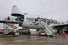 1:200 35CM Hogan Cargolux BOEING 747-400ERF LX-ECV Beluga with Wood Stand MINT