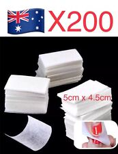 200 Pcs Nail Art Polish Remover Lint Free Cleaner Wipe Cotton Pad Manicure