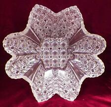 Daisy & Button Bowl Early American Pattern Glass Clear Hobbs Brockunier As Is