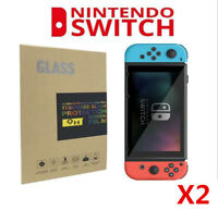 2x  Nintendo Switch Console Screen Protector Cover  Premium Tempered Glass 9H