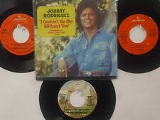 LOT OF 4 'JOHNNY RODRIGUEZ' HIT 45's+1PS[I Couldn't Be Me Without You] THE 70's!