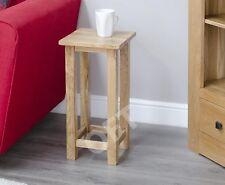 Boston solid oak furniture square lamp side end table