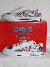 A&G Rock N' Roll EDDIE Navy Lace Up Kids Shoes Size 1 New