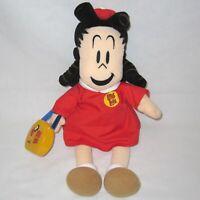 "1999 Vintage 16"" LITTLE LULU Plush Doll by Eden with Dress & Purse Retro Cartoon"