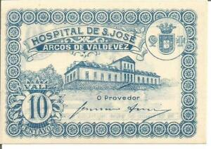 PORTUGAL NOTGELD 10 CENTAVOS N/D - ARCOS DE VALDEVEZ
