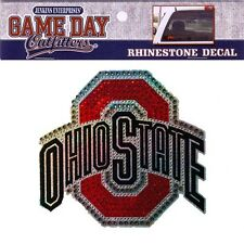 OHIO STATE RHINESTONE BLING WINDOW DECAL STICKER BUCKEYES UNIVERSITY CAR TRUCK