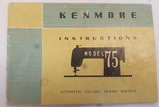 "SEARS KENMORE MODEL ""75"" OWNERS MANUAL - SEARS, ROEBUCK & CO."