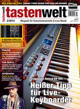 Tastenwelt 02 2014 Stagepiano Roland RD-800 / Aktivboxen kombinieren / Top-Tests