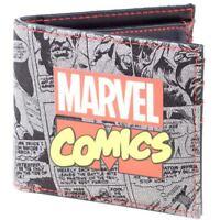 MARVEL COMICS Retro Classic Comic Book All-over Print Bi-fold Wallet