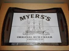 Beautiful Wooden Myer's Rum Tile Tray