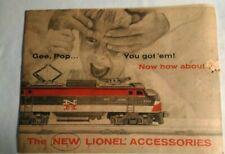 Lionel Train 1956 New Accessories Catalog