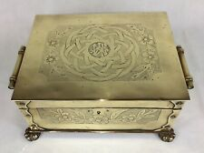 More details for aesthetic movement / arts & crafts copper cigar box, with japanesque wrigglework