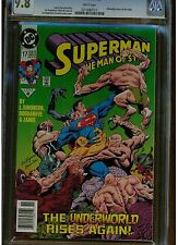 SUPERMAN MAN OF STEEL #17 CGC 9.8 WHITE PAGES 1ST DOOMSDAY CAMEO APPEARANCE BAR