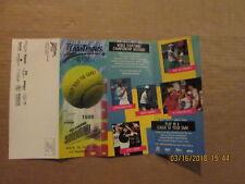 Wtt Delaware Smash Vintage 1998 Tennis Supont Logo Season Ticket Brochure