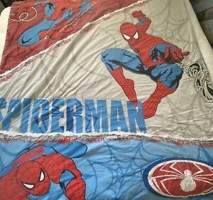 Spiderman Comforter Vintage Quilted Blanket Web Thrower Spider Marvel Comics