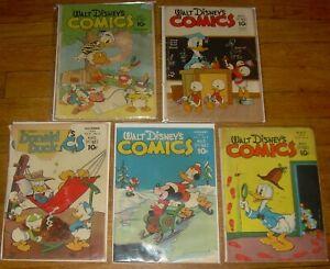 Lot 5 WALT DISNEY'S Comics & Stories #24, 25, 50, 52, 56 Carl BARKS donald duck