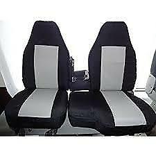 1998-2001 Ford Ranger XLT & XCab Exact Seat Covers 60/40 Bench in Black/Gray