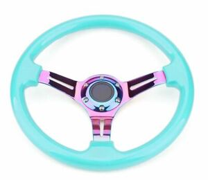 "14"" (350mm) Teal Tiffany ABS Steering Wheel  Fit Hub Like Vertex Nardi NRG"